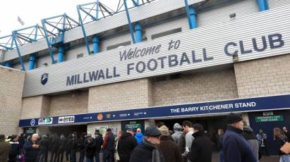 Tickets Still Available For Tuesday's Millwall Clash