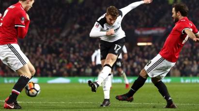 Derby Beaten By Two Late Goals At Old Trafford