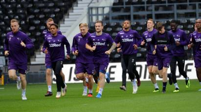 Players Train On The Pitch Ahead Of Rotherham Test