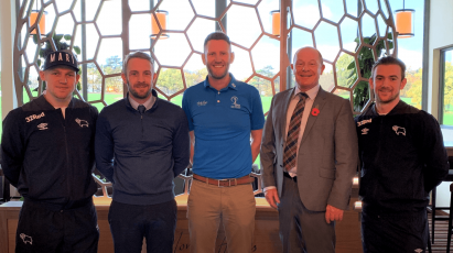 Rams Stars Carry Out The Official Opening Of Morley Hayes' New Driving Range And Tower Cafe