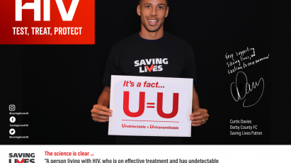 Derby County Supports Saving Lives By Promoting HIV Testing