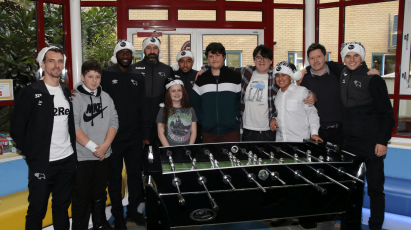 Derby's Players Make Their Annual Christmas Hospital Visit