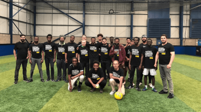 Derby Help To Mark Contribution Refugee Players Make To Football In Amnesty's 'Football Welcomes' Weekend