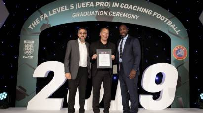 Derby Coaches Claim FA Level 5 (UEFA Pro) Qualification