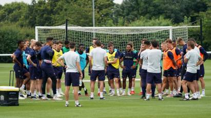 Phillip Cocu's First Training Session At The Training Ground