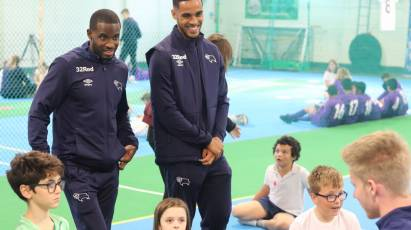 Jozefzoon And Lowe Visit Willows Sports Centre
