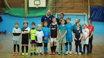 Derby Players Visit Community Trust Holiday Coaching Courses