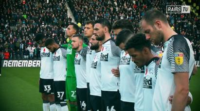 Derby County Pay Their Respects On Remembrance Sunday