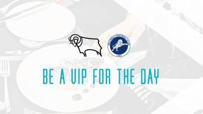 Become A VIP For Derby's Game Against Millwall At Pride Park