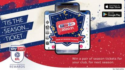 Win A Pair Of Derby Season Tickets This Christmas With Sky Bet EFL Rewards