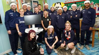 Derby's Players Make Annual Christmas Hospital Visit