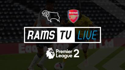 Watch Derby County U23s' Take On Arsenal U23s For FREE On RamsTV