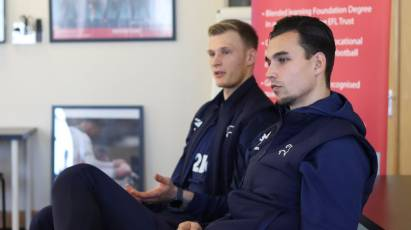 Derby Goalkeepers Roos + Ravas Appear At Community Event