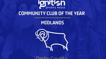 Derby County Announced As EFL Community Club Of The Year Winner For The Midlands