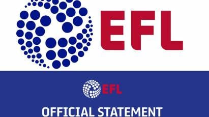 EFL Statement: Covid-19 Test Results (30th May 2020)