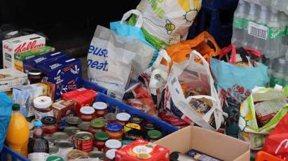 Major Food Donation Made To City's Relief Effort At Pride Park Stadium