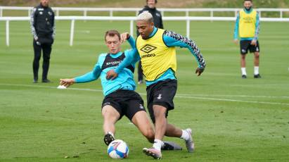 In Pictures: Rams Working Hard On The Training Pitch Ahead Of Norwich City Clash