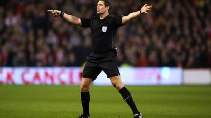 Jones To Take Charge Of Derby's Home Fixture Against Birmingham City