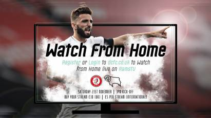 Watch From Home: Bristol City Vs Derby County - LIVE On RamsTV