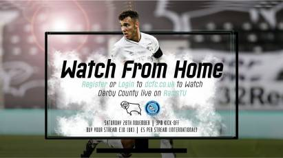 Watch From Home: Derby County Vs Wycombe Wanderers LIVE On RamsTV