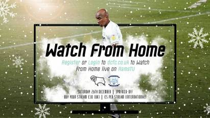 Watch From Home: Derby County Vs Preston North End LIVE On RamsTV