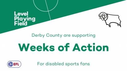 Derby County Support Level Playing Field's 'Weeks Of Action'