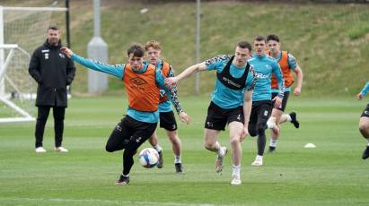 IN PICTURES: Rams Train Ahead Of Swansea Trip