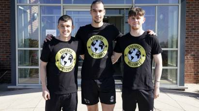 Derby County Joins Clubs Across The UK To Welcome Refugees As Part Of Amnesty's 'Football Welcomes' Month