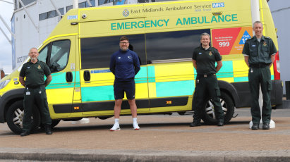 Derby County Community Trust Join Forces With East Midlands Ambulance Service
