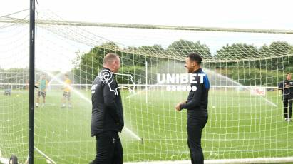 Derby's Players Get Down To Work In 2021/22 Trainingwear