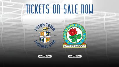 Tickets On Sale For Derby's Upcoming Home Games Against Luton And Blackburn