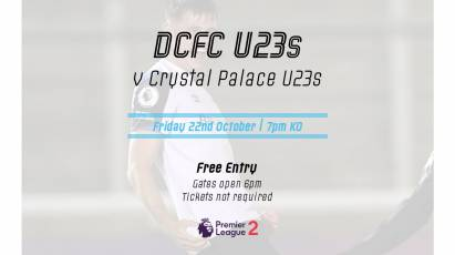 Under-23s To Face Crystal Palace At Pride Park Stadium On Friday Night