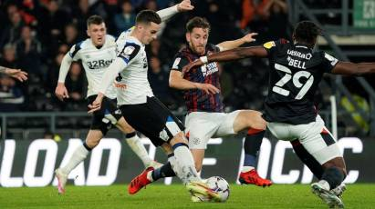 Points Shared At Pride Park After Luton Equalise Late On