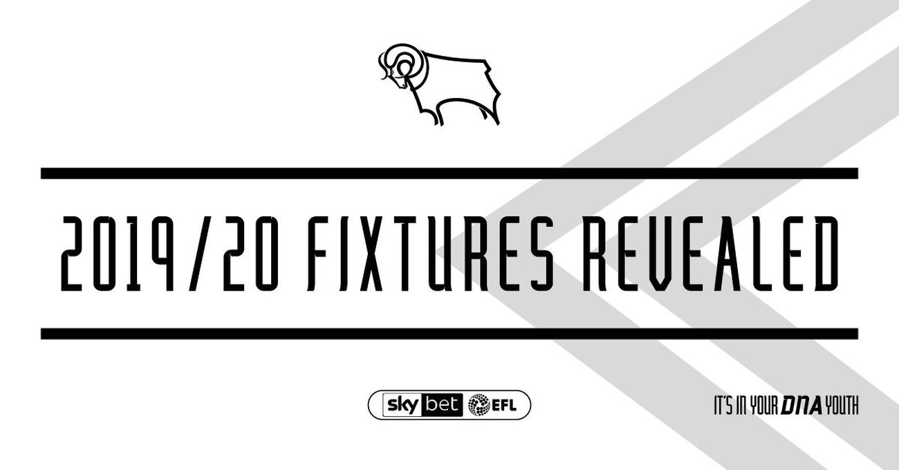Derby County's 2019/20 Fixtures Released - Blog - Derby County